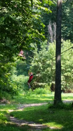 Sky Tours at YMCA Union Park Camp: Here he comes.