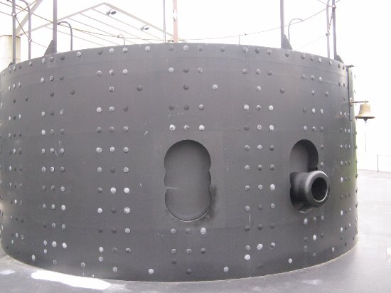 Newport News, VA: This is a replica of the USS Monitor's turret.