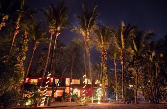 Hotel La Laguna del cocodrilo: jardin de noche
