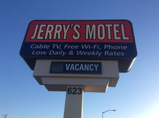 Oakdale, Californië: motel sign