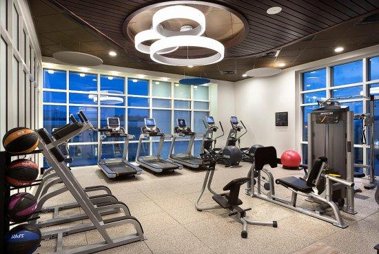 Fitness center at night