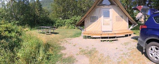 Forillon National Park, Kanada: Tente Otentik et le terrain