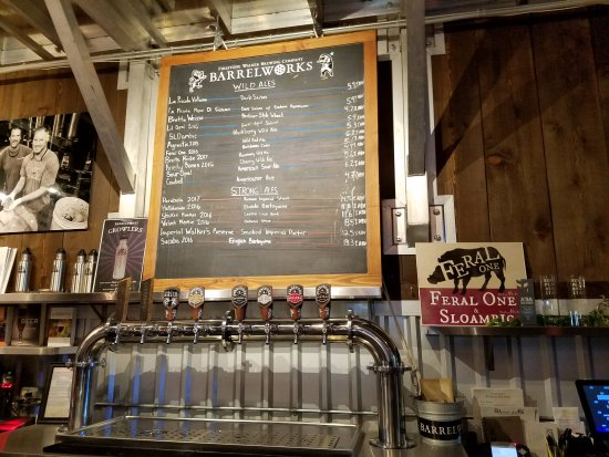 Barrelworks at Firestone Walker Brewery: Beer selection for the day