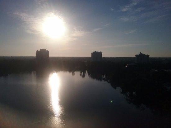 Hilton Orlando Buena Vista Palace Disney Springs : Sunrise from our balcony.