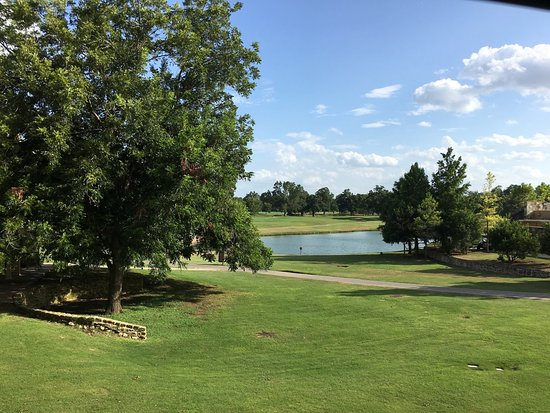 Cedar Creek, TX: View from my room of pond & golf course