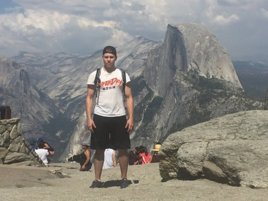 Oakhurst, CA: Glacier Point, Half Dome, and Mt. Whitney in the distance (Paramount Pics logo)