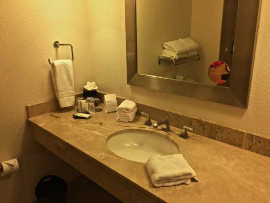 The Westin Tampa Waterside Bathroom Is Nice With Lots Of Complimentary Toiletries