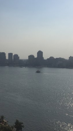 Kempinski Nile Hotel Cairo: The view from the pool on the 11th floor