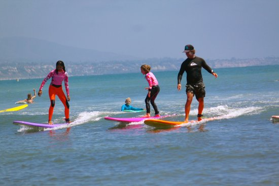 Dana Point, CA: Our surf instructors are in the water and on the wave with you! girlinthecurl.com