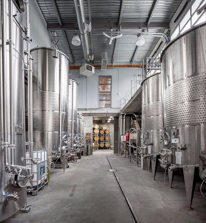 Lillooet, Canadá: Fermentation hall, where we ferment our wines in the fall.