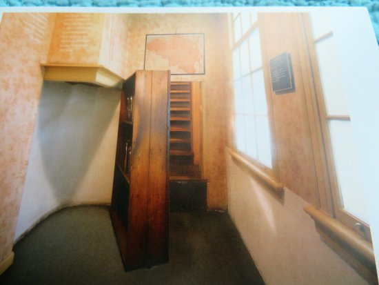 Anne Frank House: Bookcase Behind Which Was Hidden Stairs To The Attic  Where The Frank
