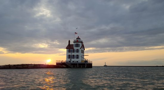 We took the Sunset Cruise at the Lorain Port Authority on Lady Charleston.