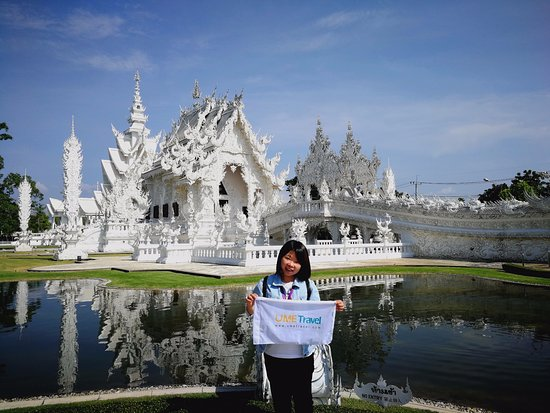Nonthaburi, Thailand: The beauty view of the White Temple.