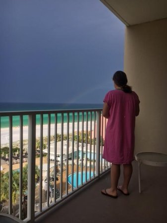 TOPS'L Beach & Racquet Resort : Rainbow from balcony - July 2017