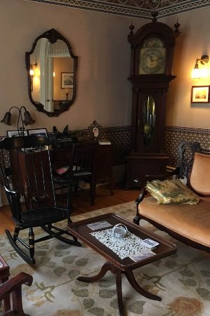 La Belle Vie Bed & Breakfast: More details from the spacious double parlor, a small museum unto itself.