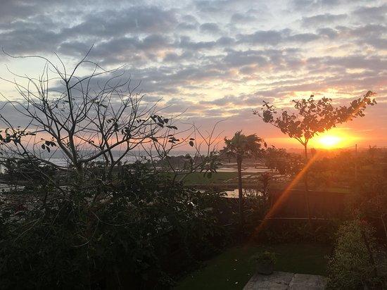 Wonderful views overlooking the ocean and rural Bali scenes