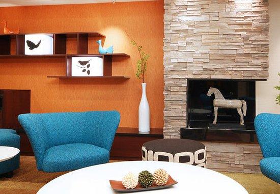 Irving, TX: Lobby Fireplace