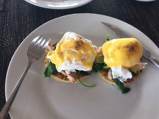 Rakiraki, Fiji: YUM! Eggs Benedict with smoked salmon.