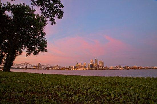 Jeffersonville, IN: Panorama Louisville Skyline and Ohio River