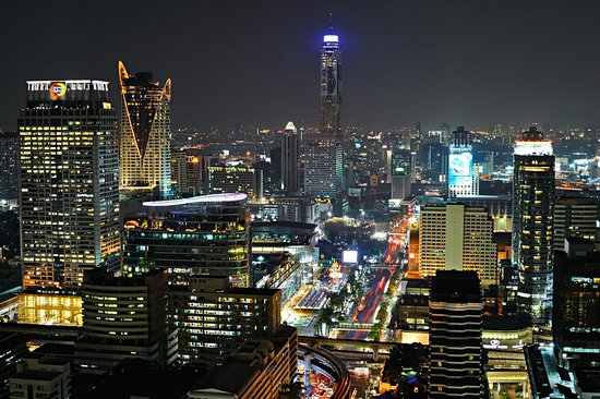 The St. Regis Bangkok: Bangkok city view at nightfall