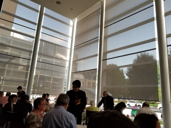 L Etoile Restaurant Floor To Ceiling Windows Look Out Onto Capitol Square