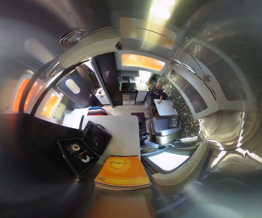 A 360° shot from inside my Airstream at Caravan Outpost