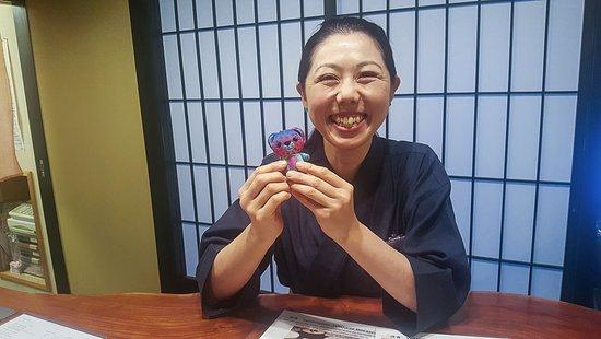 Kyomachiya Ryokan Sakura Honganji: Another member of the Ryokan staff with our trip mascot!