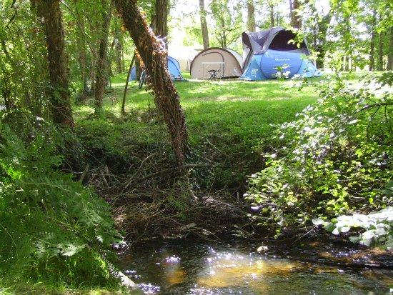 Saint-Romain-et-Saint-Clement, Francia: camping à la ferme à 80m du gîte