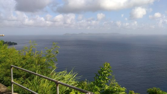 Kingstown, St. Vincent: View of Bequia island.