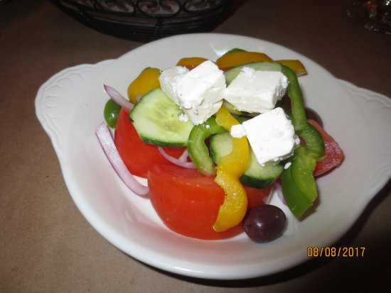 Newington, CT: horiatiki side salad