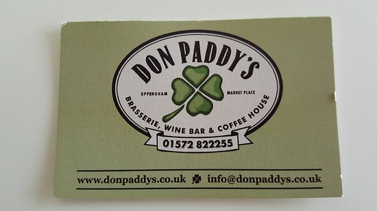 Don Paddys: All you need to know to have a great breakfast, coffee, lunch, evening meal or just a drink