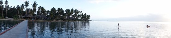 Jean-Michel Cousteau Resort Fiji: The resort from the end of the pier