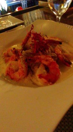 Aioli: Gluten free shrimp alfredo