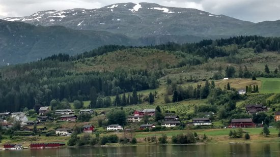 Ulvik Municipality, Norway: The view from the outside dining area.