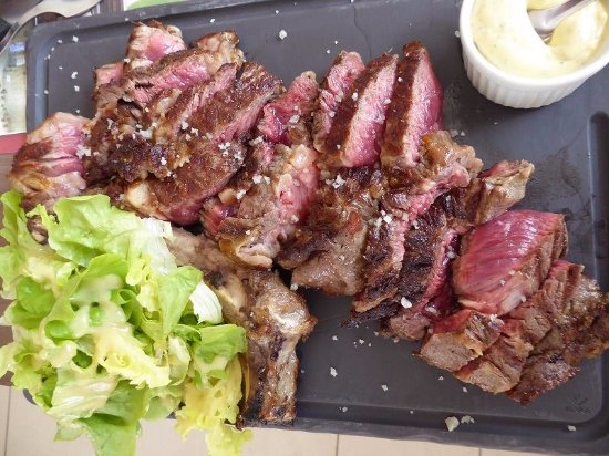 Picauville, France: Côte de Boeuf (viande normande)