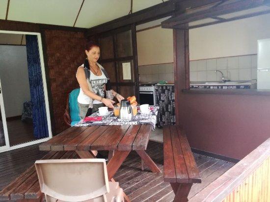 veranda del bungalow; a dx. la cucina - Picture of La Pension Manava ...