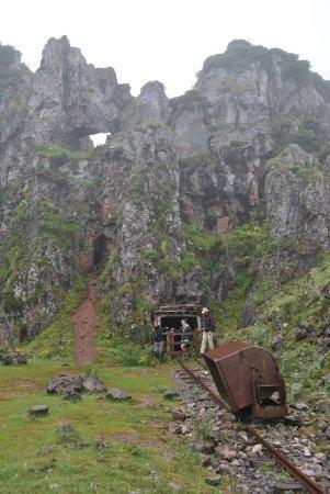 Minas de Buferrera: Een karretje en tunnel