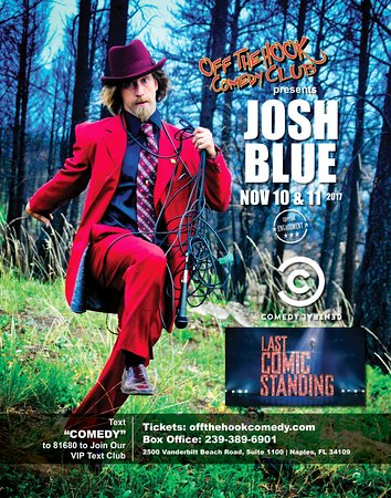 Comedian Josh Blue Performing Live at Off the hook comedy club In 2017