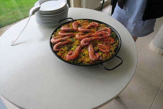 Amanecer en Campos: Her er 2 ret i serveringen den aften vi var der