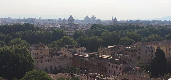 Gran Melia Rome: Walk five minutes up the hill from the hotel and here's your view!