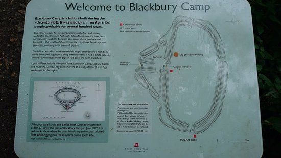 Colyton, UK: Black Bury Camp Info Board 1