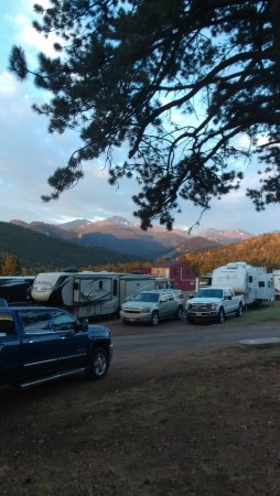 Elk Meadow Lodge & RV Resort : Longs Peak from Camp