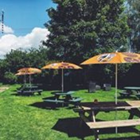 Madley, UK: beer garden open every day ( not monday)