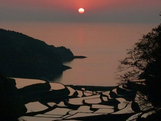 Genkai-cho, ญี่ปุ่น: 夕日に映える