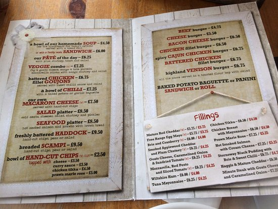 Rumblin Tum: menu