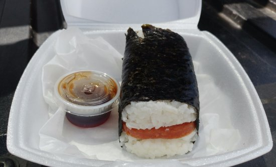 Gypsum, CO: Spam musubi (see how big it is?!)