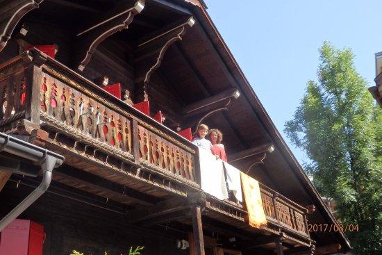 Auberge de la Poste : El balcón de nuestra habitación