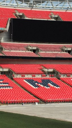 Wembley, UK: We sat here at the final of the Olympics in 2012 - memorable, with Gill