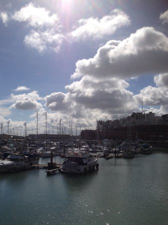 Ramsgate, UK: Beautiful sky over the Marina.