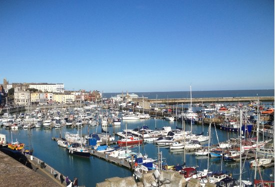 Ramsgate, UK: The view from above on the prom.